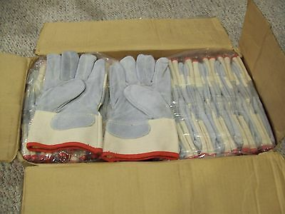 Ansell Golden Needle Leather Palm Work Gloves 95-547  Size 9  Large  12pair/1DZ