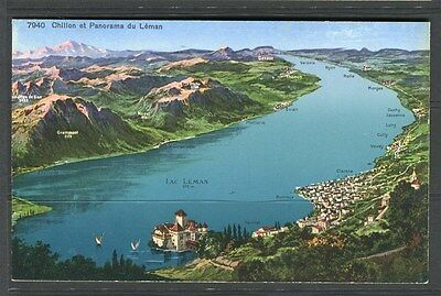SWITZERLAND;  Early 1900s POSTCARD fine Mint illustrated colour item