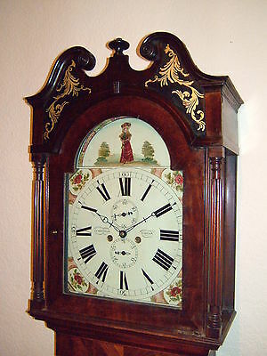 Georgian Mahogany & inlaid 8 day Longcase Grandfather Clock C1830