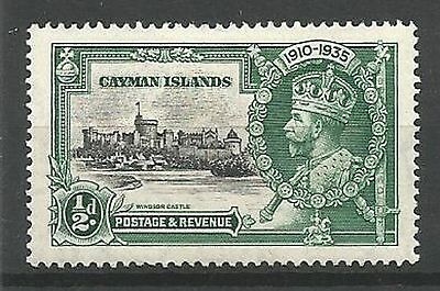 CAYMAN ISLANDS 1935 Silver Jubilee SG108 1/2d Black and Green Mounted Mint