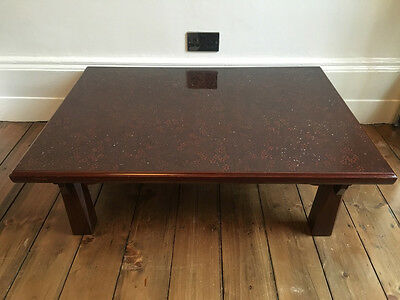 Antique Traditional Low Japanese Lacquer Dining Table Zataku Chabudai