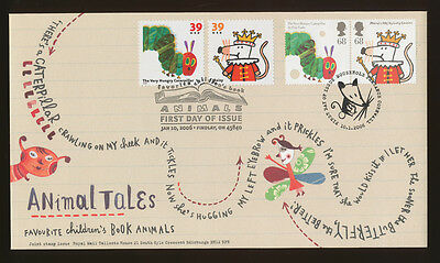USA UK joint issue FDC Carle Very Hungry Caterpillar & Maisy's ABCs, 2006