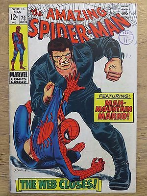 Amazing Spider-Man #73 - Marvel Bronze Age comic  - Cents issue - FN