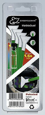 Visible Dust 1.6x Size Sensor Clean Kit 1ml Smear Away Solution and 4 Green Swab