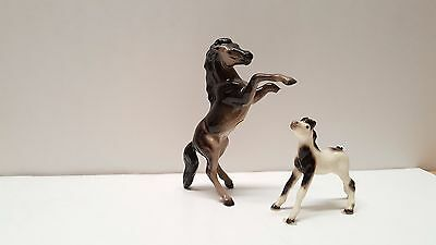 Hagen Renaker miniature mini figurine horse rearing and yearling head up lot