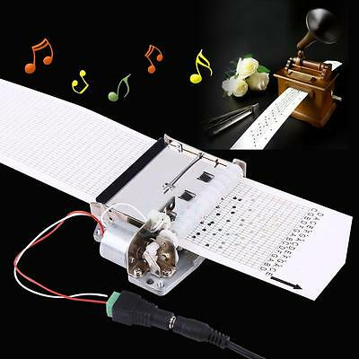 30 Note Auto Motor Music Box Movement+Puncher+ 3Pcs Strips fr DIY Your Song NEW