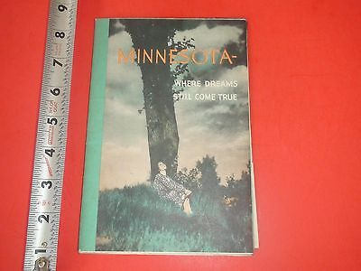 JD554 Vintage Fold-Out Brochure Map of Minnesota