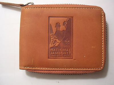 2013 National Jamboree Official Leather Zip Around Wallet, Mint in Box!