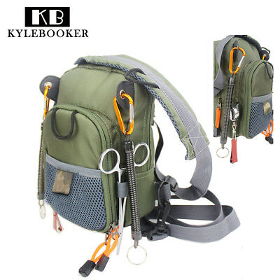 Fly Fishing Chest Pack Bag Outdoor Fishing Waist Pack & Nipper & Forceps Combo