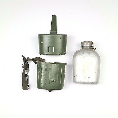Vintage Post WWII 60's West Germany Bundeswehr Army Military Canteen Mess Kit