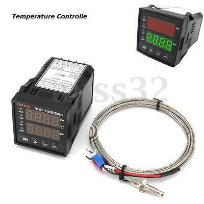 Dual Digital Display  PLC Pid Temperature Controller Furnace Kiln + Thermocouple