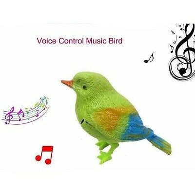 Sound Voice Control Activate Chirping Singing Bird Funny Kids Child Gift Toy USA