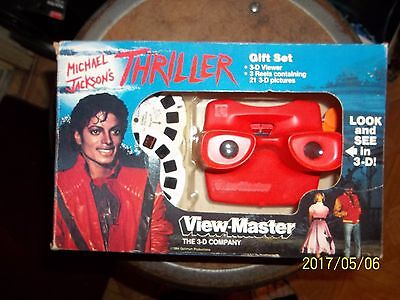 View Master 1984  Michael Jackson's Gift Set 3 -D Viewer, 3 Reels,
