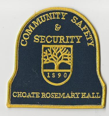 RARE Choate Rosemary Hall School Security Officer Patch