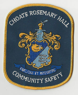 RARE Choate Rosemary Hall School Security Officer Patch Community Safety