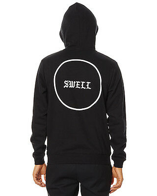 New Swell Men's Brooklyn Mens Hoody Cotton Polyester Black