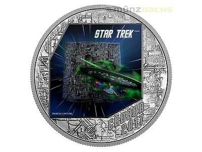 20 $ Dollar Star Trek The Borg U.S.S. Enterprise Kanada 1 oz Silber PP 2017