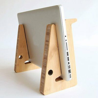 Bamboo Foldable Desktop Stand Holder Mount For Tablet PC Laptop Notebook Macbook