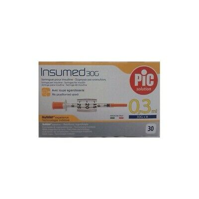 PIC siringhe per insulina insumed 0,3ml 30 pz