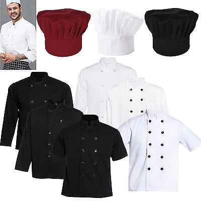 Chef Coat Jackets Long/Short Sleeve Chefs Hat Clothing Chefwear Workwear