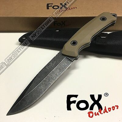 Knife Coltello Fox Outdoor 323 Da Caccia Survivor Survival Sopravvivenza Tan