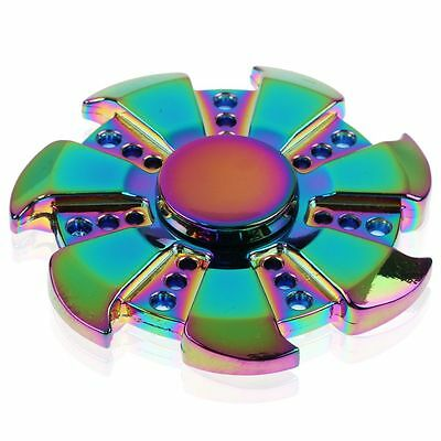 Rainbow Hand Finger Spinner EDC Fidget Stress Relief Focus Toy Special Gear Gift