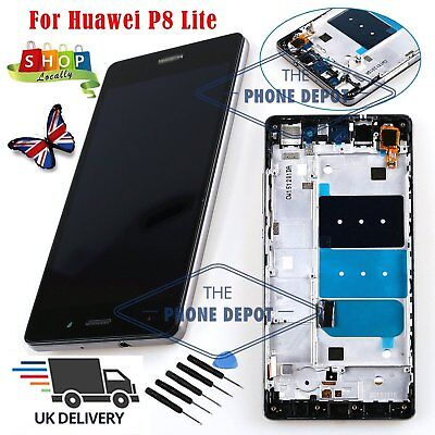 For Huawei P8 Lite LCD Screen Display Replacement Touch Digitizer Assembly Black