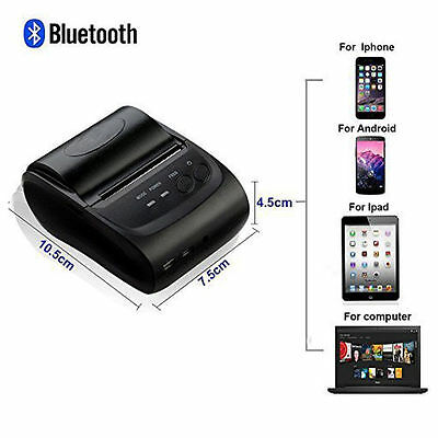 Wireless Bluetooth USB Thermal Receipt Printer 58mm Line Mobile POS Android CA!