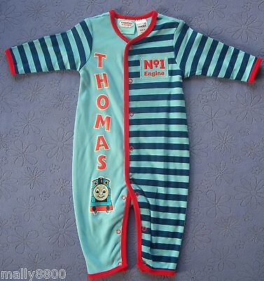 Thomas Tank Engine - Boys - Pjs Pyjamas - Romper - Sleepsuit- Size 1