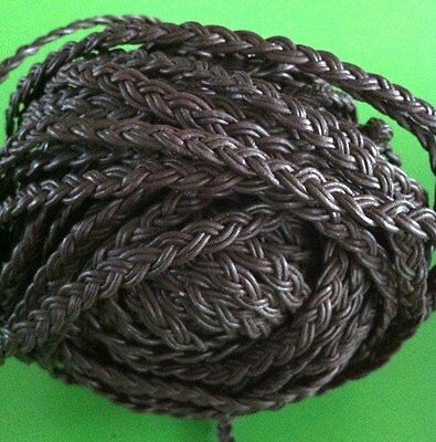 *BULK BUY*   25m x 6mm Brown Plaited Leather 6x2mm - belt/cord/jewellery/bag/hat
