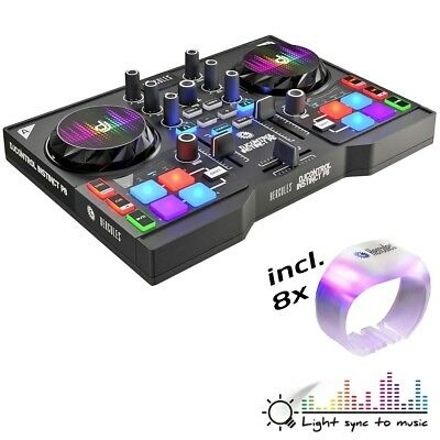 Hercules DJControl Instinct P8 DJ-Controller Party Pack inkl 8 LED Armbänder
