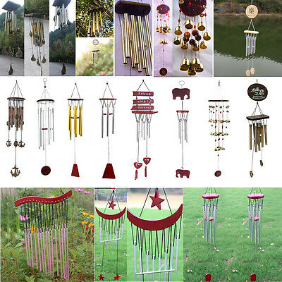 12 Styles Wind Chimes Copper Tubes Bells Church Hanging Outdoor Garden Decor