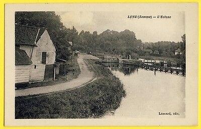 cpa Rare 80 - LONG (Somme) L'ECLUSE