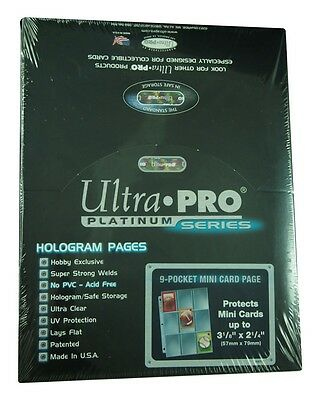 Ultra Pro 9 pocket miniCards Pages- Platinum Series (100 Pages), 57mm x 79mm