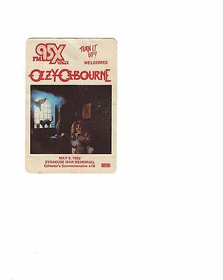 OZZY OSBOURNE vintage silk concert give away from 1982 Syracuse concert     RARE