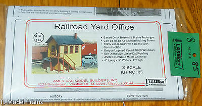 American Model Builders, Inc S #85 Railroad Yard Office (Laser Cut Kit)