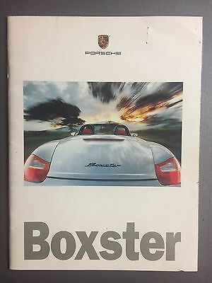 1999 Porsche Boxster Showroom Advertising Sales Brochure RARE!! Awesome L@@K VG
