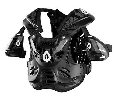661 MOTOCROSS MX RAGE ROOST PROTECTOR chest body armour black ADULT LARGE