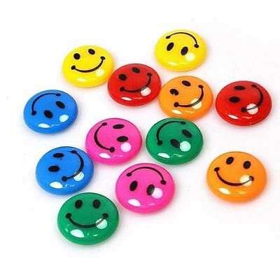 Magnetic Nails with Smiley Face - Strong MultiColour Fridge Notice Board 12 Pack