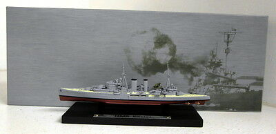 DeAgostini 1/1250 Scale Warship collection HMS Exeter model Ship + Plinth