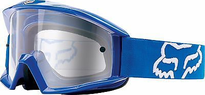 Fox Racing Main Goggles Blue/Clear Dirt Bike Motocross Off Road MX 19827-002-OS
