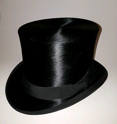 Silk Top Hat by A.B. Malcolm- 57.5cm (Size 7 1/16)