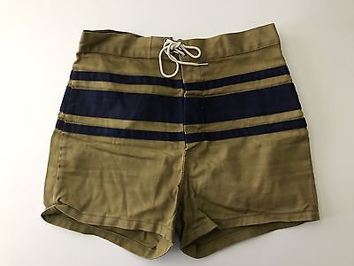 Men's Vintage JANTZEN 1950's/1960's Swim Trunks Shorts Suit Cotton Size 30 USA!