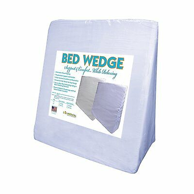 "Eva Medical Wedge Bed Pillow 22"" x 22"" x 7.5"" Body Support Cushion for your Bed"