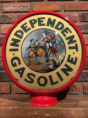 Independent Gasoline Pergl Limited Edition Gas Pump Globe American Oil Sign
