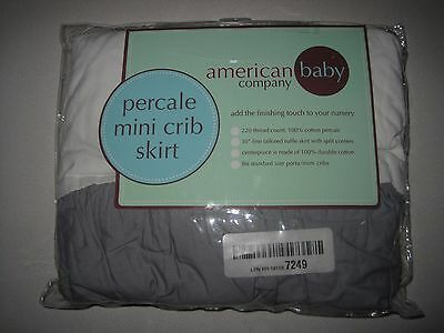 American Baby Company 100% Cotton  Crib Skirt  - Multiple Variations