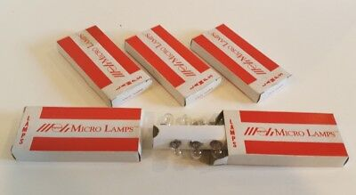 Lot 50 Micro Lamps Aircraft Lights In Box ML-1820