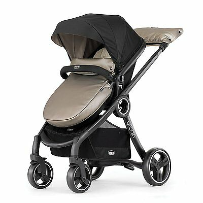 Chicco 6 in 1 Stylish Compact Baby Toddler Urban Modular Stroller, Beige Truffle