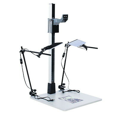 """Smith Victor 42"""" Pro-Duty Copy Stand with LED Light Kit"""