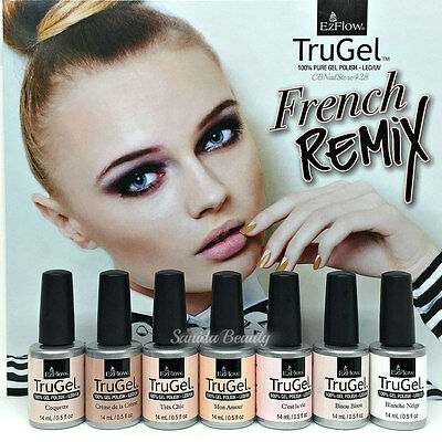 EZFlow TruGel Gel Polish LED UV - FRENCH REMIX - 0.5oz/14mL - Pick Any Color